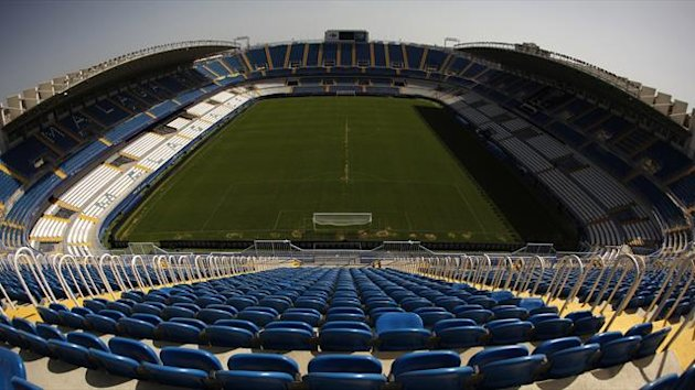 A general view of the La Rosaleda stadium, home of Malaga (Reuters)