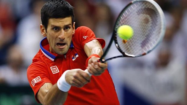 Novak Djokovic plays for Serbia in the Davis Cup final (Reuters)