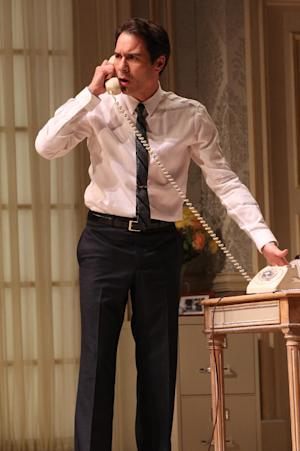 "In this undated theater image released by Jeffrey Richards & Associates, Eric McCormack is shown in a scene from the Broadway revival of Gore Vidal's ""The Best Man,"" in New York. (AP Photo/Jeffrey Richards Associates, Joan Marcus)"