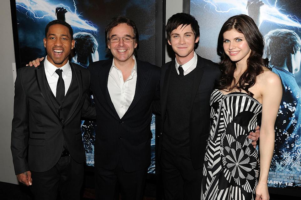 Percy Jackson and the Olympians NY premiere 2010 Brandon T. Jackson Chris Columbus Logan Lerman Alexandra Daddario