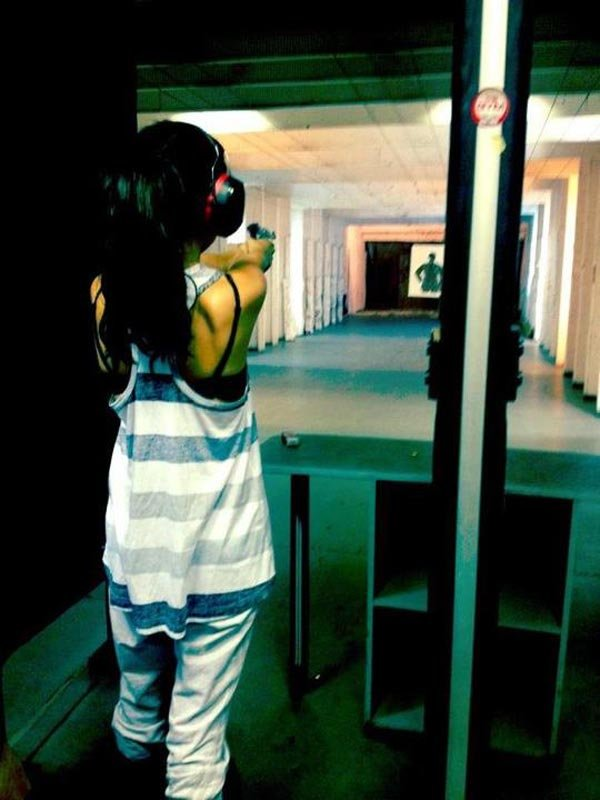 Selena Gomez Shoots Gun In Bulgaria
