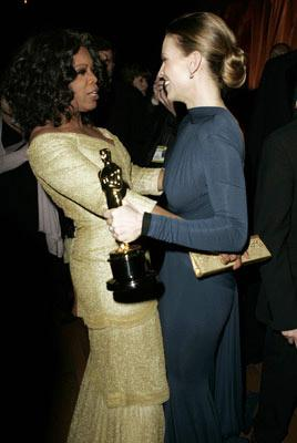 Oprah Winfrey and Hilary Swank The 77th Annual Academy Awards - Governors Ball Hollywood, CA - 2/27/05