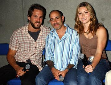Ryan Reynolds, writer/director David S. Goyer and Jessica Biel Blade: Trinity panel 2004 San Diego Comic-Con International - 7/23/2004