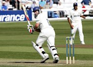 Kent's Sam Northeast was 91 notout at lunch against Derbyshire