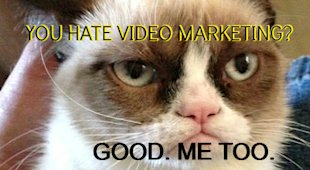 Selling Video Marketing to Naysers and Scared SMBs image grumpycatvideomarketing