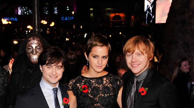 Harry Potter and the Deathly Hallows pt 1 UK premiere 2010 Daniel Radcliffe Emma Watson Rupert Grint