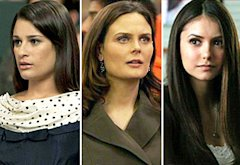 Lea Michele; Emily Deschanel; Nina Dobrev | Photo Credits: Adam Rose/Fox; Patrick McElhenney/Fox; Quantrell D. Colbert/The CW