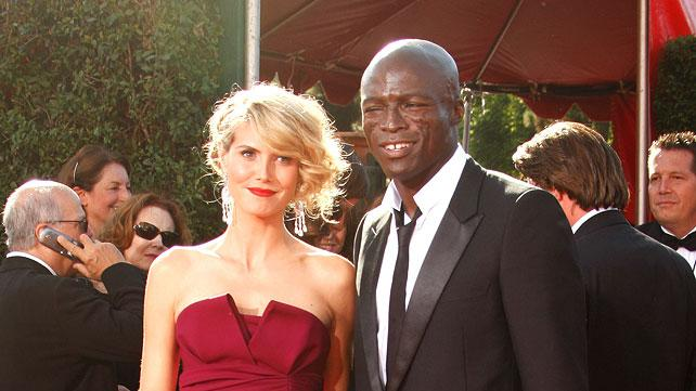 Heidi Klum and Seal arrive at the 59th Annual Primetime Emmy Awards at the Shrine Auditorium on September 16, 2007 in Los Angeles, California.