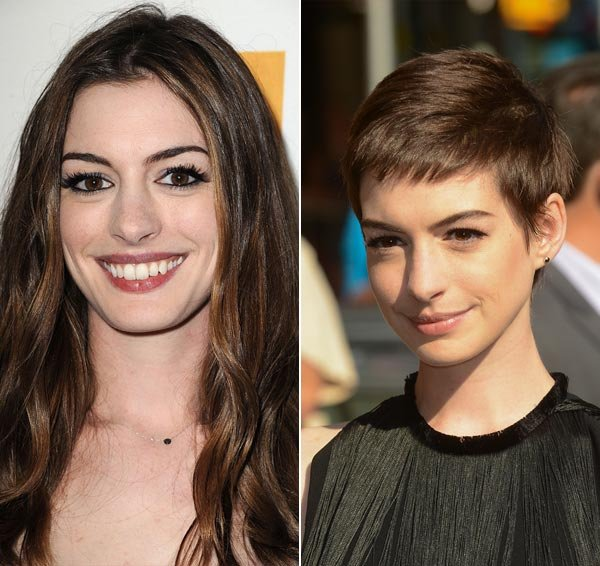 Anne Hathaway Says She Majorly Cried After Chopping Her Hair