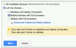 Creating Text Ads in Google Adwords to Increase ROI image Device Settings3