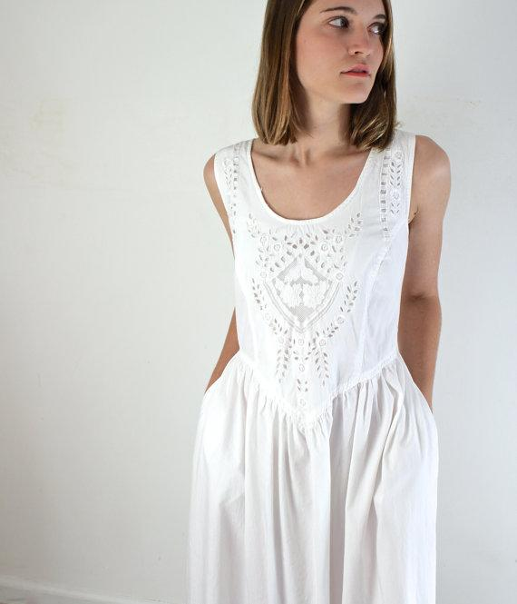 White Cotton Sundress
