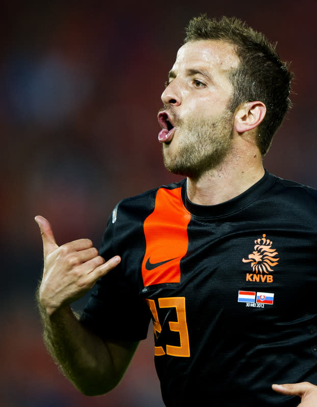 Netherlands' Rafael Van Der Vaart Celebrates  AFP/Getty Images
