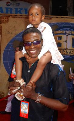 Keith David and daughter at the Hollywood premiere of Walt Disney's Around the World in 80 Days