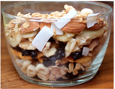 Hearty Trail Mix With Yogurt and Fruit