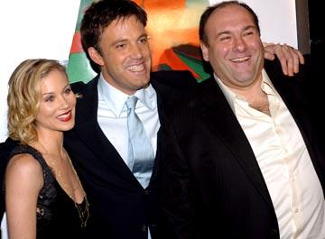 Premiere: Christina Applegate, Ben Affleck and James Gandolfini at the Hollywood premiere of Dreamworks' Surviving Christmas - 10/14/2004 Photos: www.wireimage.com/