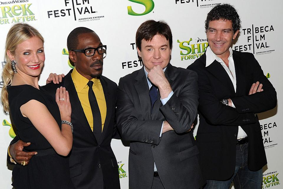 9th Annual Tribeca Film Festival Shrek Forever After Premiere 2010 Cameron Diaz Eddie Murphy Antonio Banderas Mike Myers