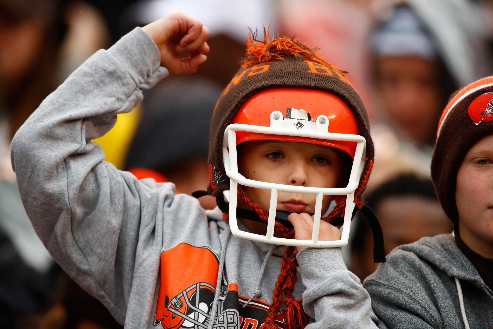 This young Cleveland Browns' fan's Christmas dreams might come true without breaking his parent's bank. (Getty Images)