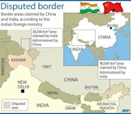 Map showing border areas disputed by China and India. Dozens of Chinese soldiers have set up camp in a remote region claimed by India, according to Indian government sources.
