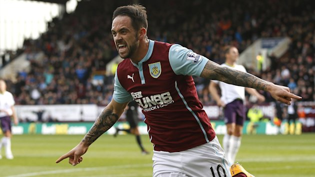 Burnley's Danny Ings celebrates after scoring during their English Premier League soccer match against Everton at Turf Moor in Burnley, northern England, October 26, 2014.