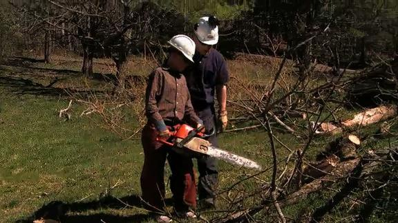Trace's Chainsaw Lesson