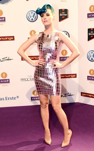 Katy Perry in Paco Rabbane at the Echo Music Awards