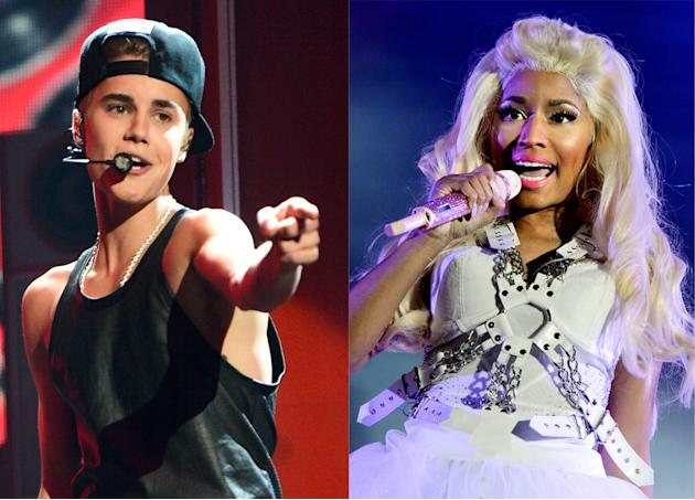 Justin Bieber and Nicki Minaj