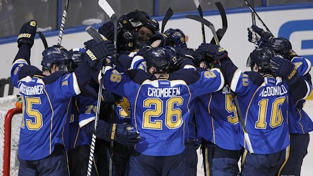 St. Louis Blues players celebrate (Reuters)