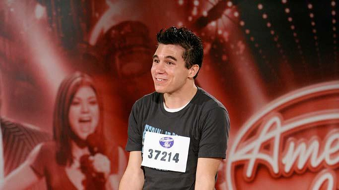 Omaha Audition: Chris Bernheisel 25, Fremont, NE, performs in front of the judges on the 7th season of American Idol.