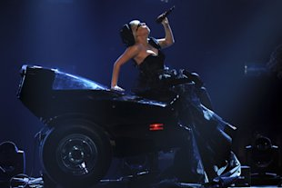 Lady Gaga performs during the Bambi Award 2011 show at the Rhein-Main-Hallen on November 10, 2011 in Wiesbaden, Germany