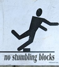 The Biggest Stumbling Block in Presentations image no stumbling blocks  stick figure san francisco 2013 264x300
