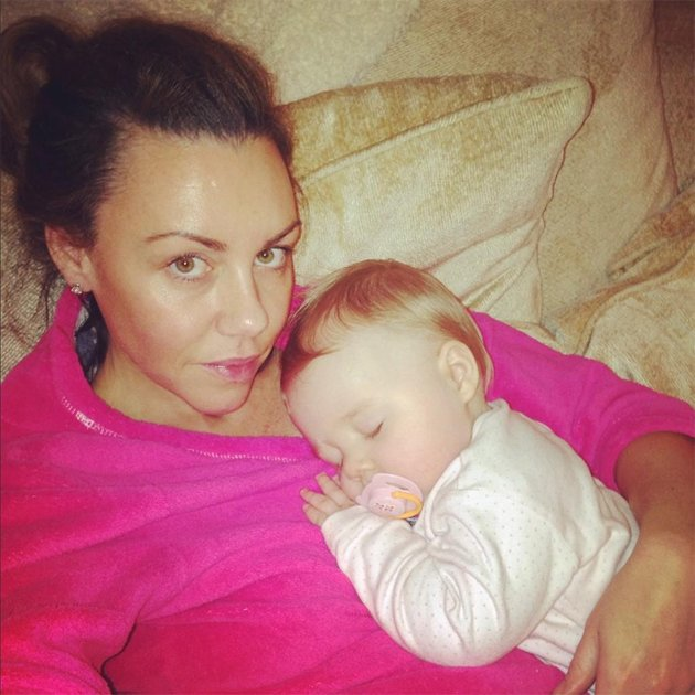 Michelle tweeted this photo of her and baby Faith