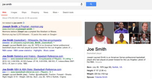 What Do People Find When They Search Your Name? image Joe Smith Google Results