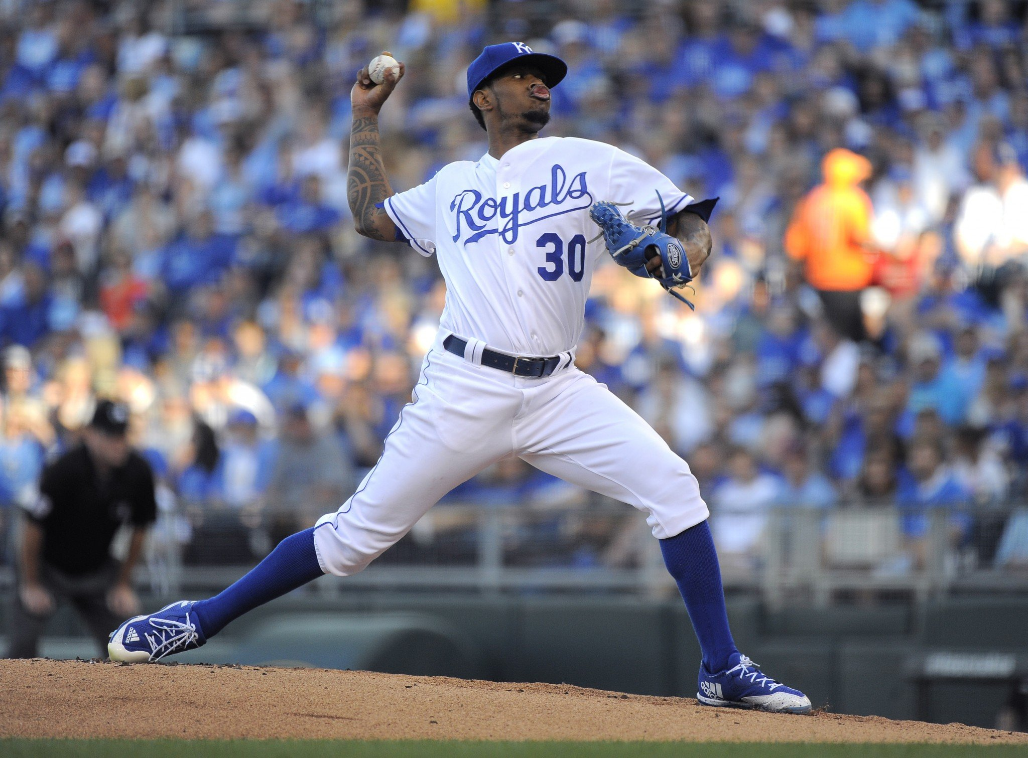 Yordano Ventura will be remembered by the Royals with a jersey patch. (Getty Images)