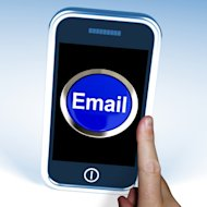 Email: The Starting Point for a Mobile Marketing Strategy image Mobile Phone with Email Button