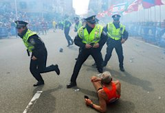 2013 Boston Marathon explosion | Photo Credits: Boston Globe/Getty Images