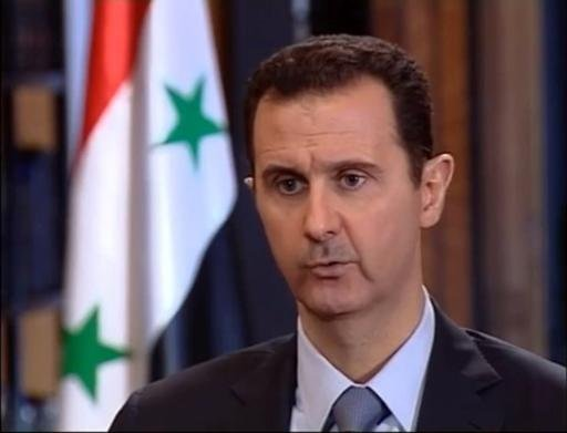 Syrian President Bashar al-Assad speaking during an interview with Turkish media in Damascus, on October 4, 2013