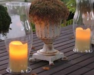 Battery-operated candles are a flameless alternative to an open flame.