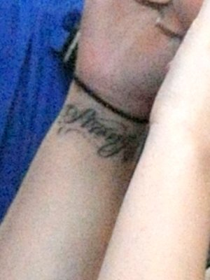 Tattoo on Demi Lovato's left wrist. (Hot Shots Worldwide/Splash)