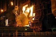 A converter process of Nippon Steel's Kimitsu iron mill plant in Tokyo's Chiba prefecture. Nippon Steel and Sumitomo Metal Industries produced a combined 46.1 million tonnes of crude steel in 2011, according to the World Steel Association