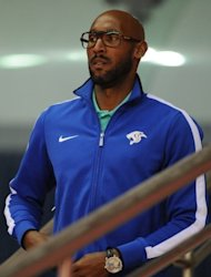 French striker Nicolas Anelka arrives for a Shanghai Shenhua game at the Hongkou Stadium in Shanghai, on May 27