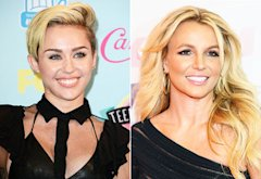 Miley Cyrus, Britney Spears | Photo Credits: Jason Merritt/Getty Images, Paul A. Hebert/Getty Images