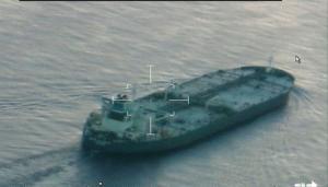 The oil tanker United Kalavyrta approaches Galveston, Texas