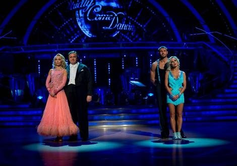 Mark Benton and Ben Cohen wait for the results of the dance off on week nine of SCD 2013
