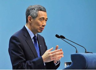 PM Lee notes the prevalence of 'cowboy towns' in cyberspace in his National Day Rally speech on Sunday. (Getty Images)