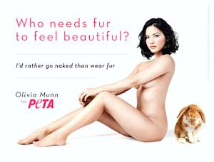 Sexy! Olivia Munn Gets Naked for New Anti-Fur Billboard
