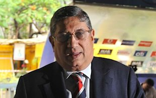 Presenting N Srinivasan, the new president of the Board, owner of Chennai Super Kings, member of the IPL governing council, president of Tamil Nadu Golf Federation, president of All India Chess Federation, President of Tamil Nadu Cricket Association, and... sorry, we're out of caption space.