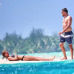 Leonardo DiCaprio and Model Girlfriend Toni Garrn Get Romantic in Bora Bora