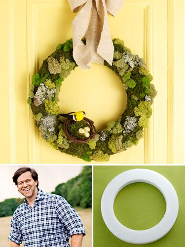 Green and Gorgeous Moss Wreath