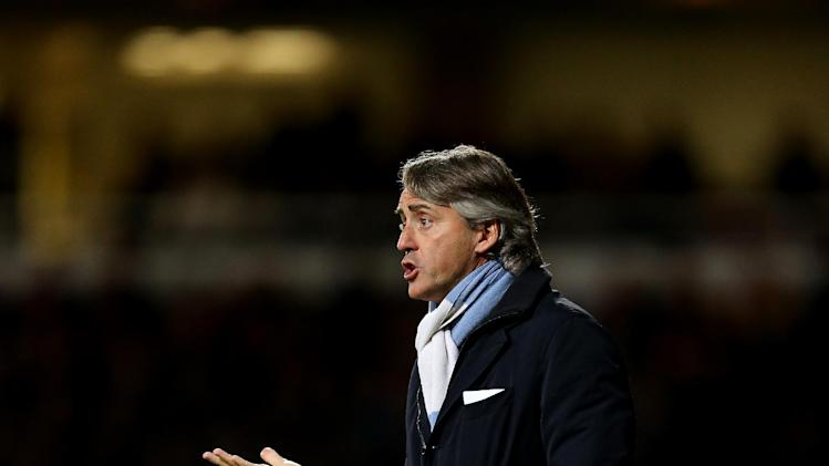 Roberto Mancini was 'unhappy' at City's missed chances against West Ham