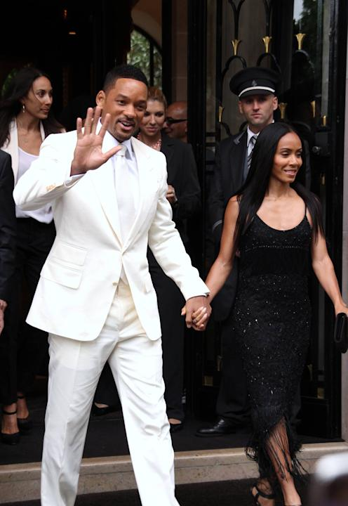Will Smith and Jada Pinkett Smith depart the Georges V hotel ahead of the 'Men in Black III' movie premiereParis, France - 11.05.12Credit: (Mandatory): WENN.com